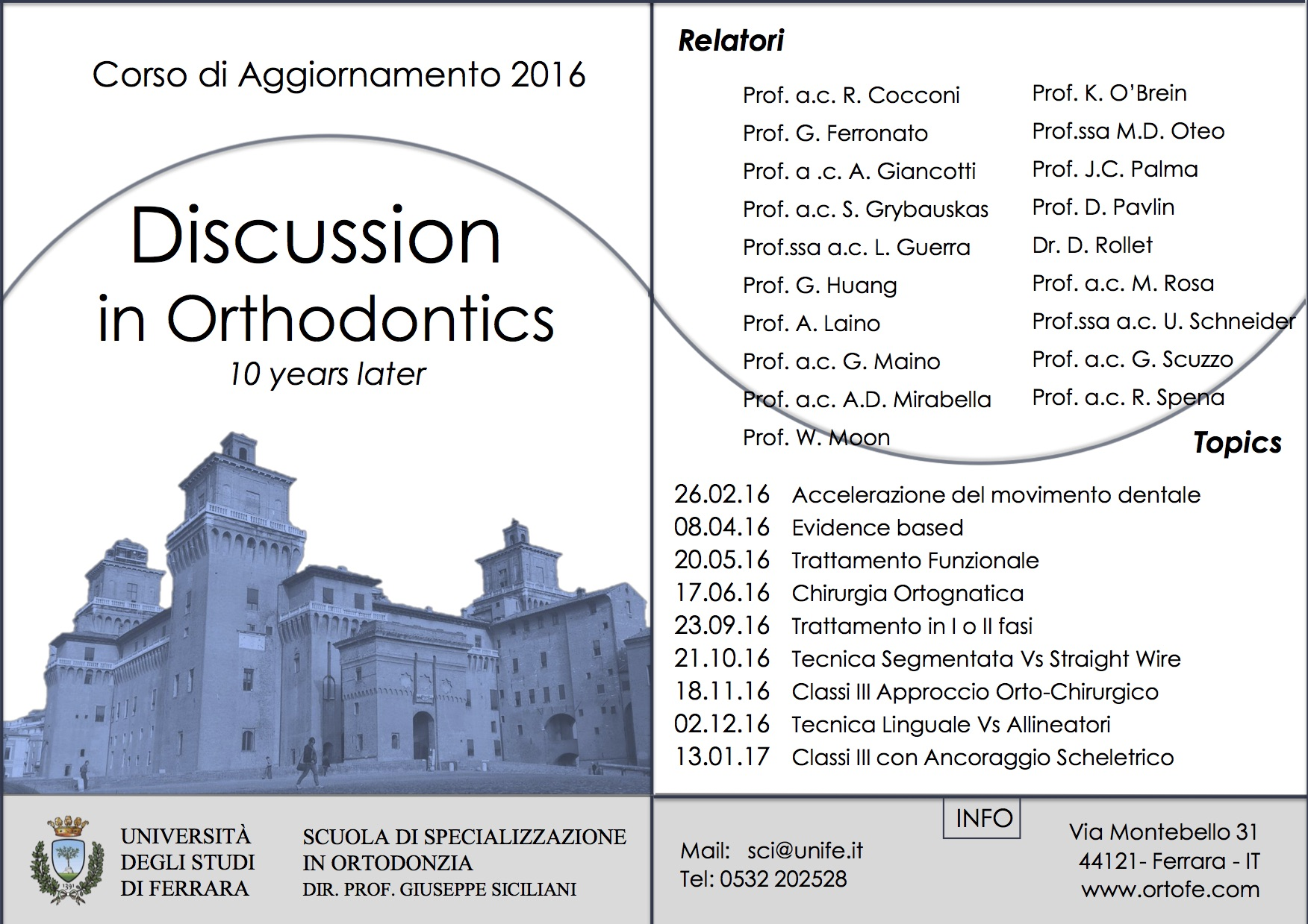 Discussion in orthodontics 2016